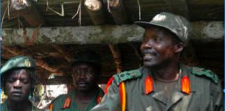 George Okot Odek, , The late Okot Odhiambo, Joseph Kony (Left to Right)