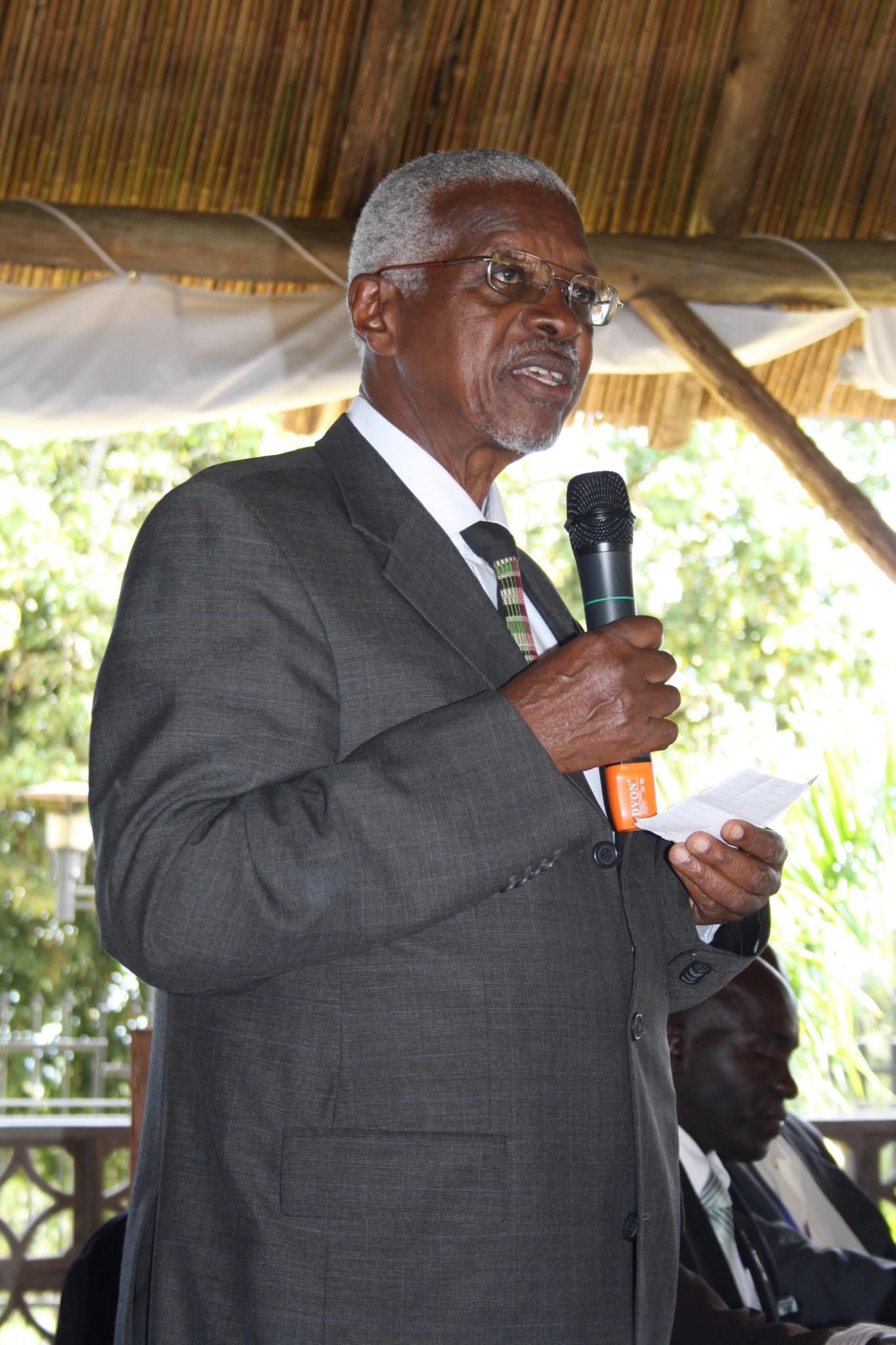 Former National Consultative Council (NCC) Chairman Prof Edward Rugumayo