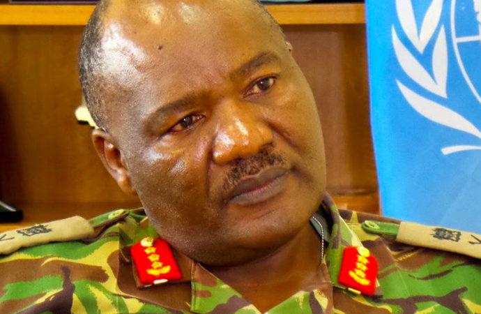 SACKED: Kenyan UNMISS Commander Lt Gen Johnson Mogoa Kimani Ondieki. The South Sudan government wants him reinstated.