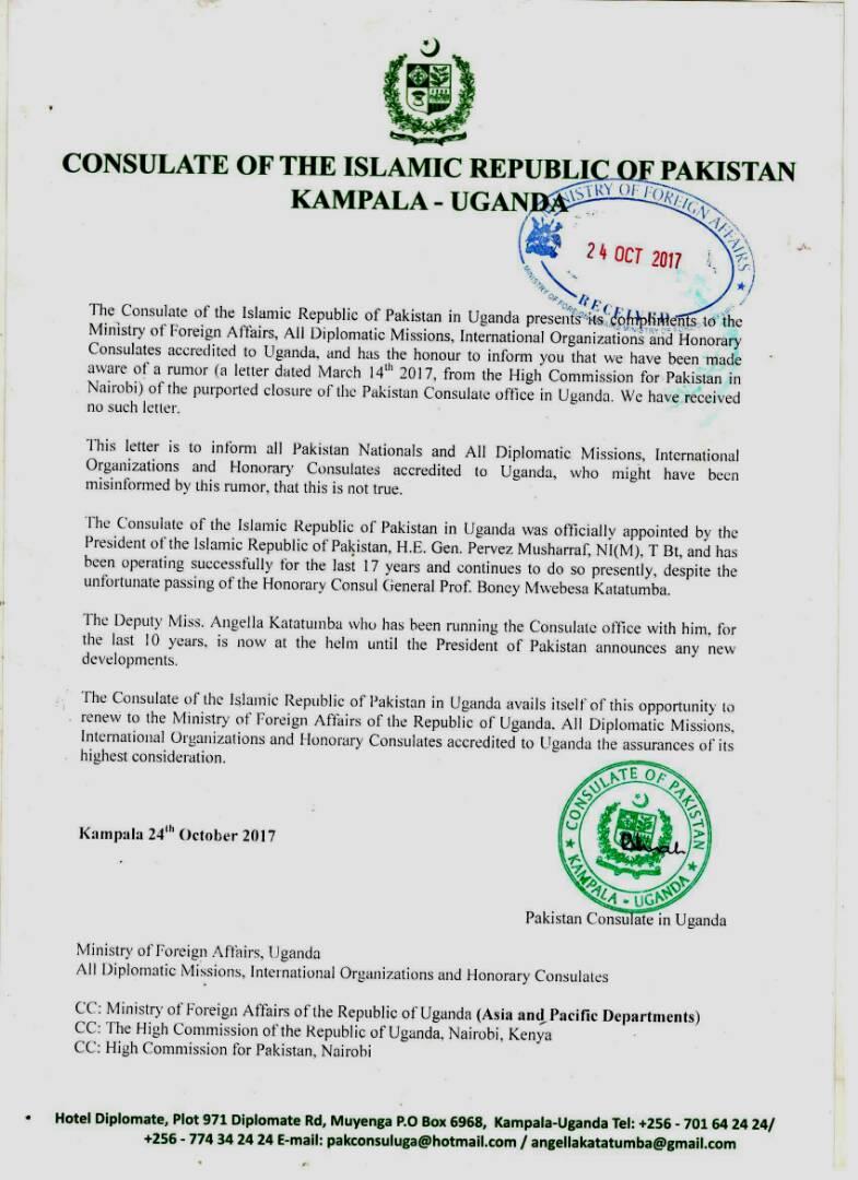 I am the rightful Consul of Pakistan to Uganda- Angella ...