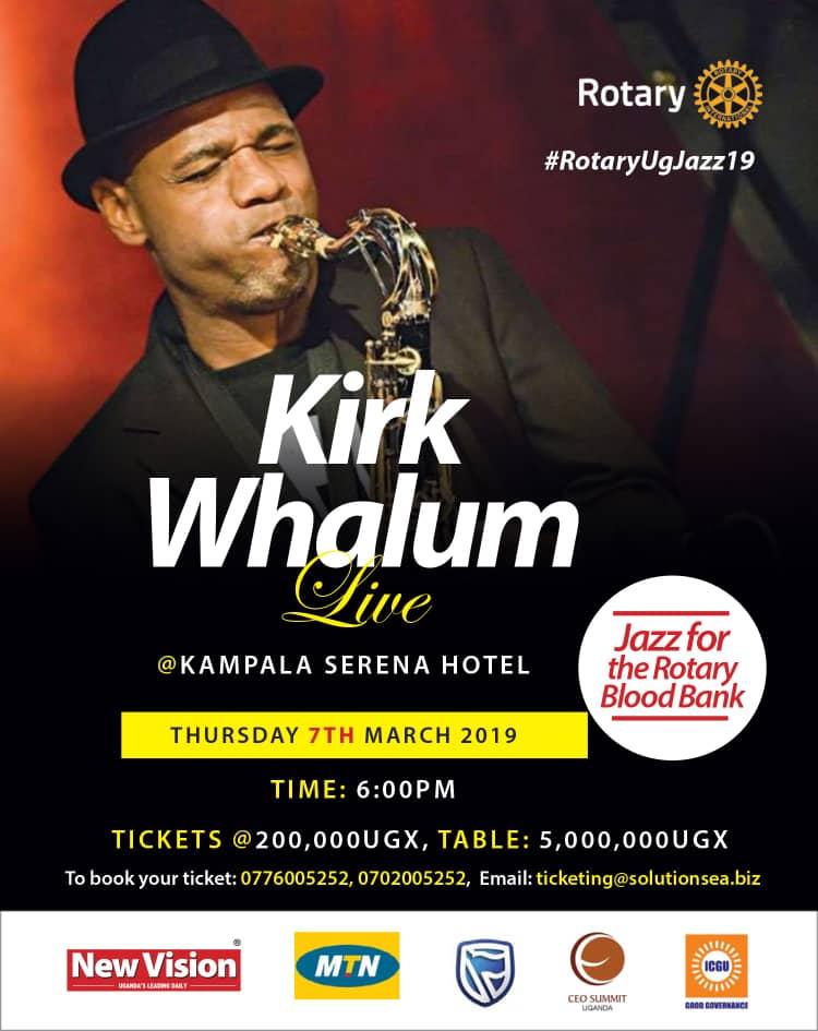 Kirk Whalum will in Uganda
