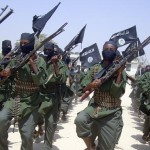 2011 Al-Shabab fighters march with their guns during military exercises on the outskirts of Mogadishu, Somalia. Source: AP
