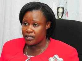 The Minister of Education, Sports, Science and Technology, Jessica Alupo,