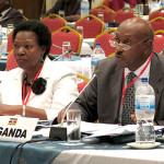 The Attorney General, Hon. Freddie Ruhindi (L)
