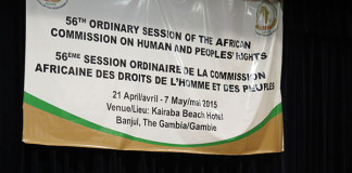 Ordinary Session of the ACHPR is meeting in the West African city of Banjul in the Gambia
