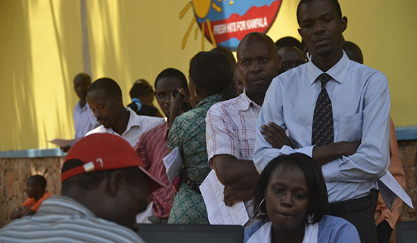 Some of the residents who attended the voter registration exercise