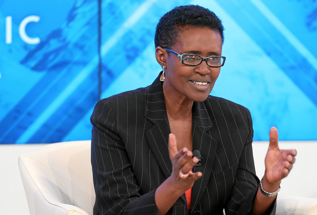 CALLED FOR JUSTICE TO PREVAIL: Winnie Byanyima, an Aunt to murder suspect Mathew Kanyamunyu