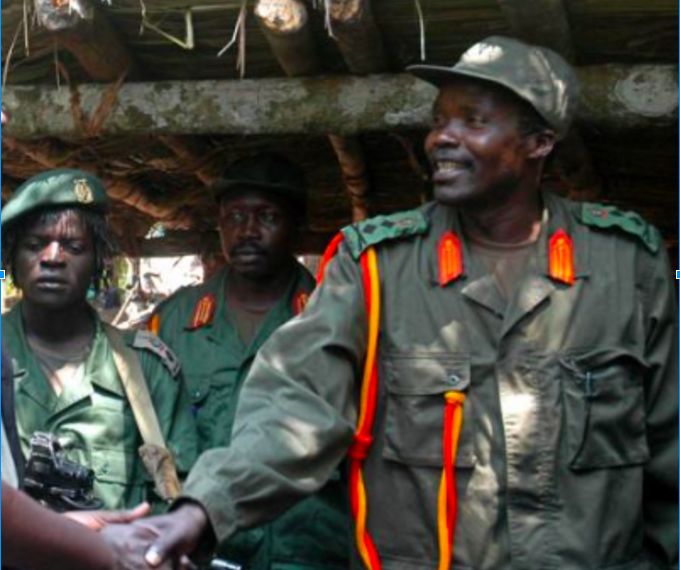 George Okot Odek, , The late Okot Odhiambo, Joseph Kony (Left to Right)