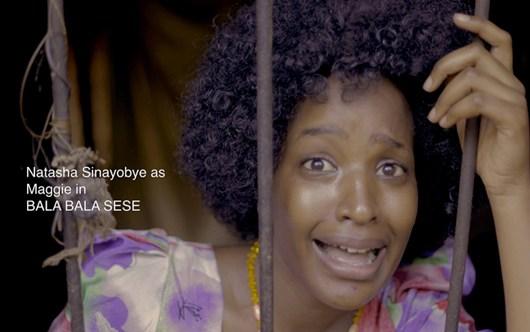 Natasha Sinayobye as Maggie in Bala Bala Sese a Ugandan film directed by Lukyamuzi Bashir