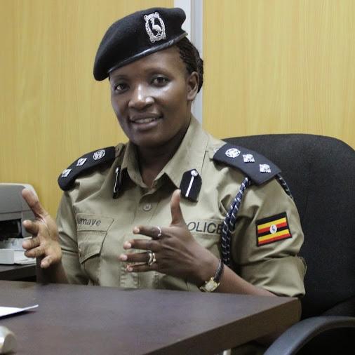 TEMPORARILY CALMED DOWN WATERS: Deputy Police spokesperson ACP Polly Bagambaki Namaye