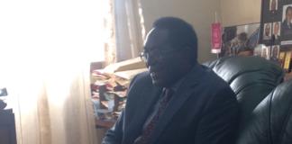 Prof. Ddumba Sentamu During the Interview