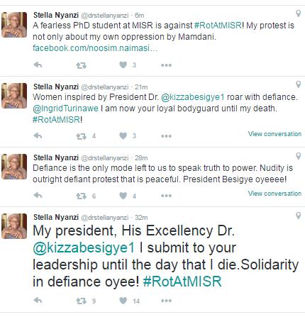 Stella Nyanzi is a renowned Dr. Besigye follower and social media propagandist