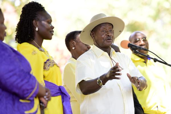 Image result for museveni and anite