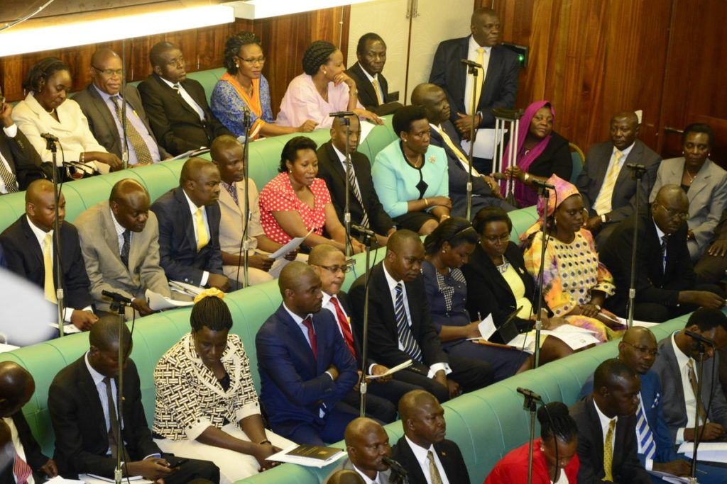 Hon. Sematimba listens to debate in the House. (Photo/@Parliament_UG)