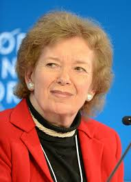 UN SPECIAL ENVOY ON EL NINO: Former Irish President Mary Robinson