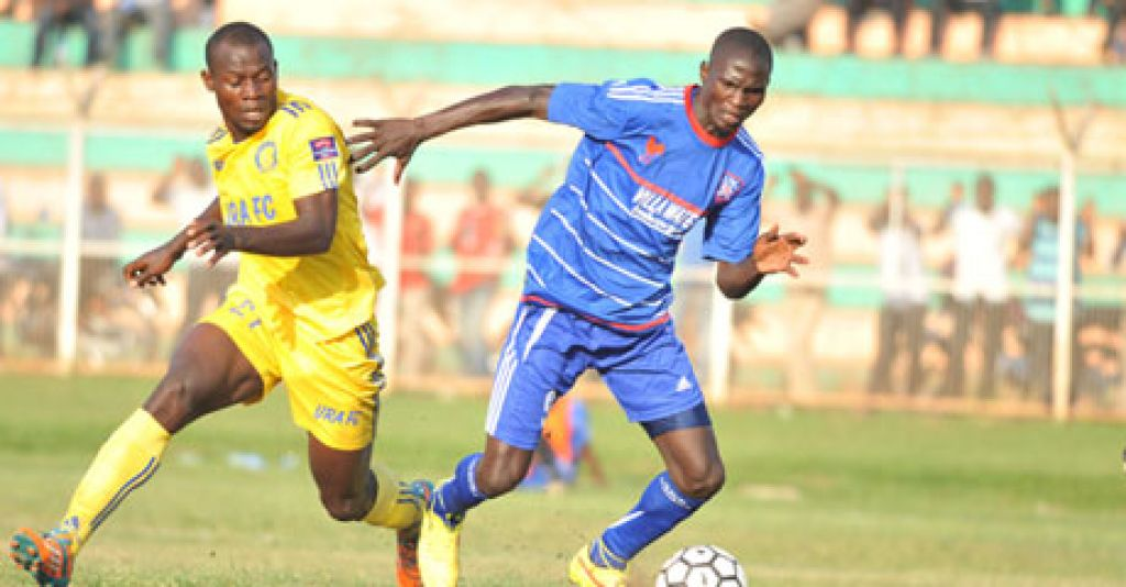 Umar Kasumba in action against URA FC in the league. He scored his first goal in SC Villa colours against JKU. He did score in March 2016 against a poor JKU in the CAF Confederations Cup as the Jogoos walloped their opponents 4-0 at Namboole.