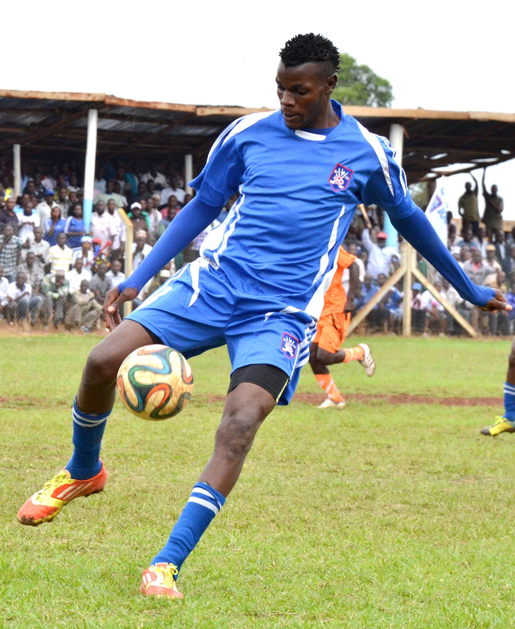 BYE: Ndugwa against Lweza in the Uganda Premier league at Mitiyana Sazza grounds.