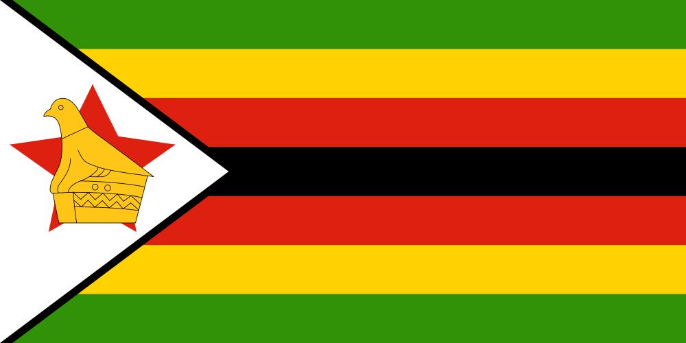 An image of the Zimbabwe National Flag