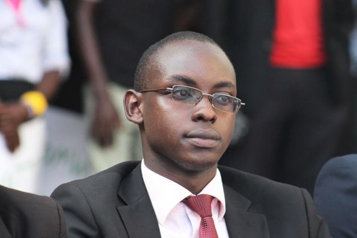 WAITING: Basil Biddemu Mwotta, the declared winner of the disputed Makerere University Guild elections