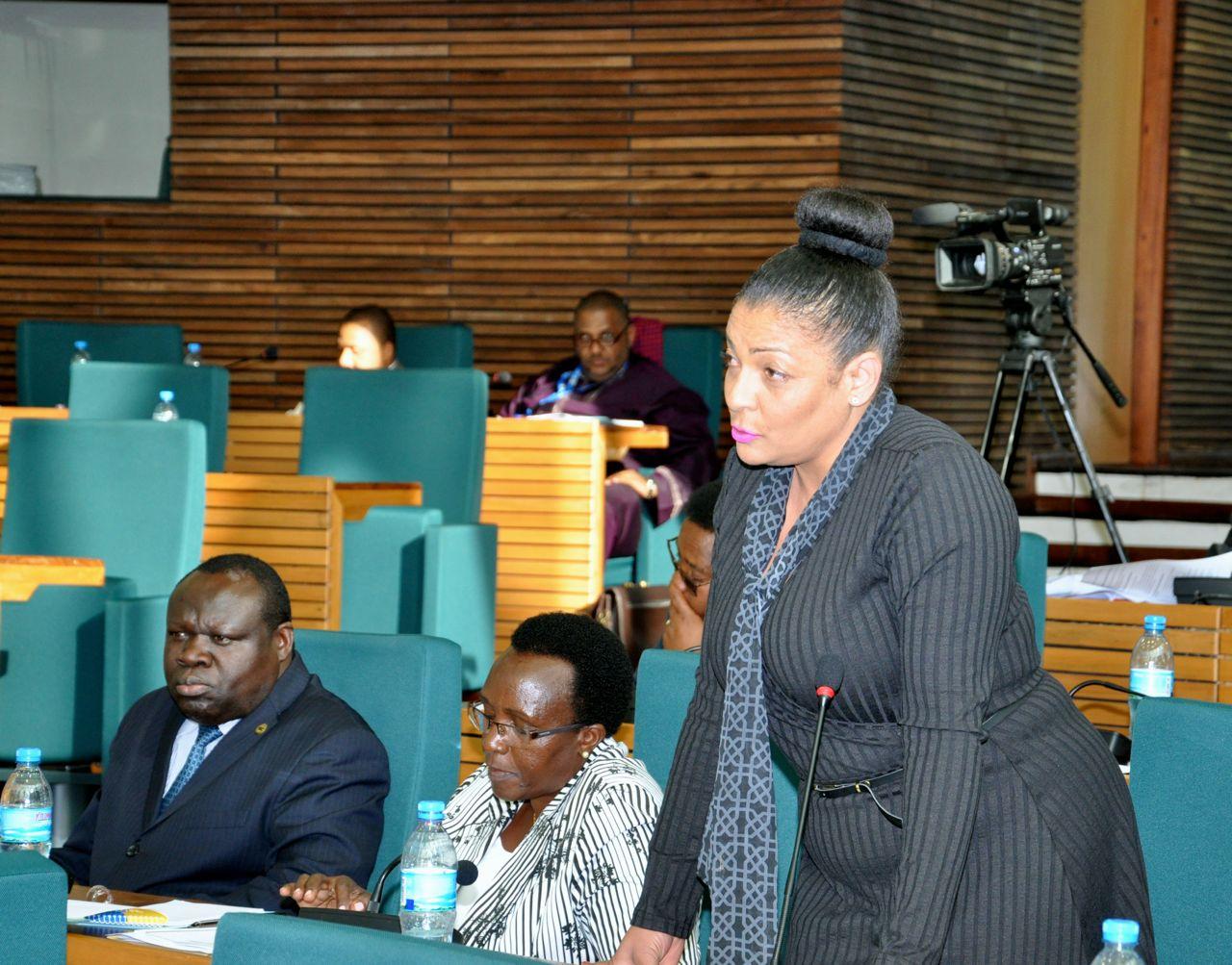 Hon Shyrose Bhanji, seconded the Resolution on Kiswahili