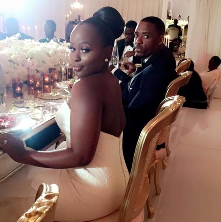 KAMPALA HERE WE COME! Nadia Mbire, tycoon Charles Mbire's daughter at her wedding to Yasser Matovu. Photo credit/galaxyfm.com