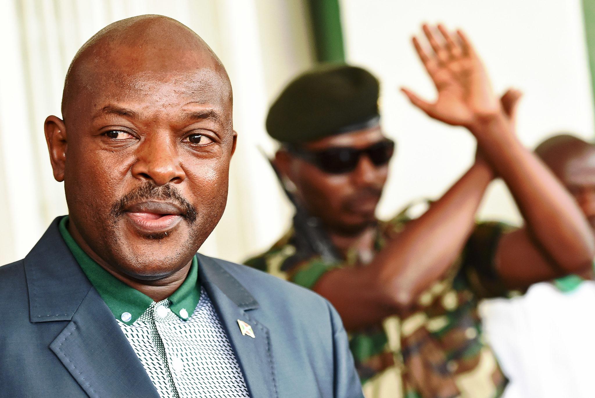 RULE FOR LIFE? Burundi's President Pierre Nkurunziza. AFP PHOTO / CARL DE SOUZA