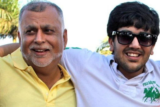 FATHER AND SON: Tycoon Sudhir Ruparelia with his son Rajiv.