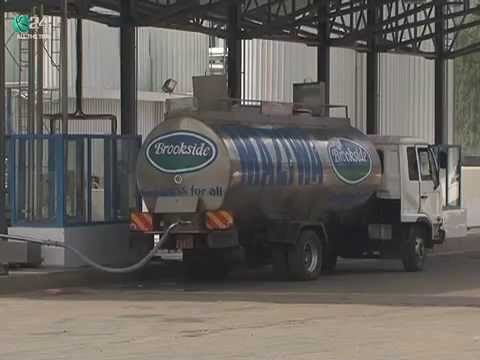 A Brookside milk delivery truck. Brookside is the biggest milk products firm in East Africa