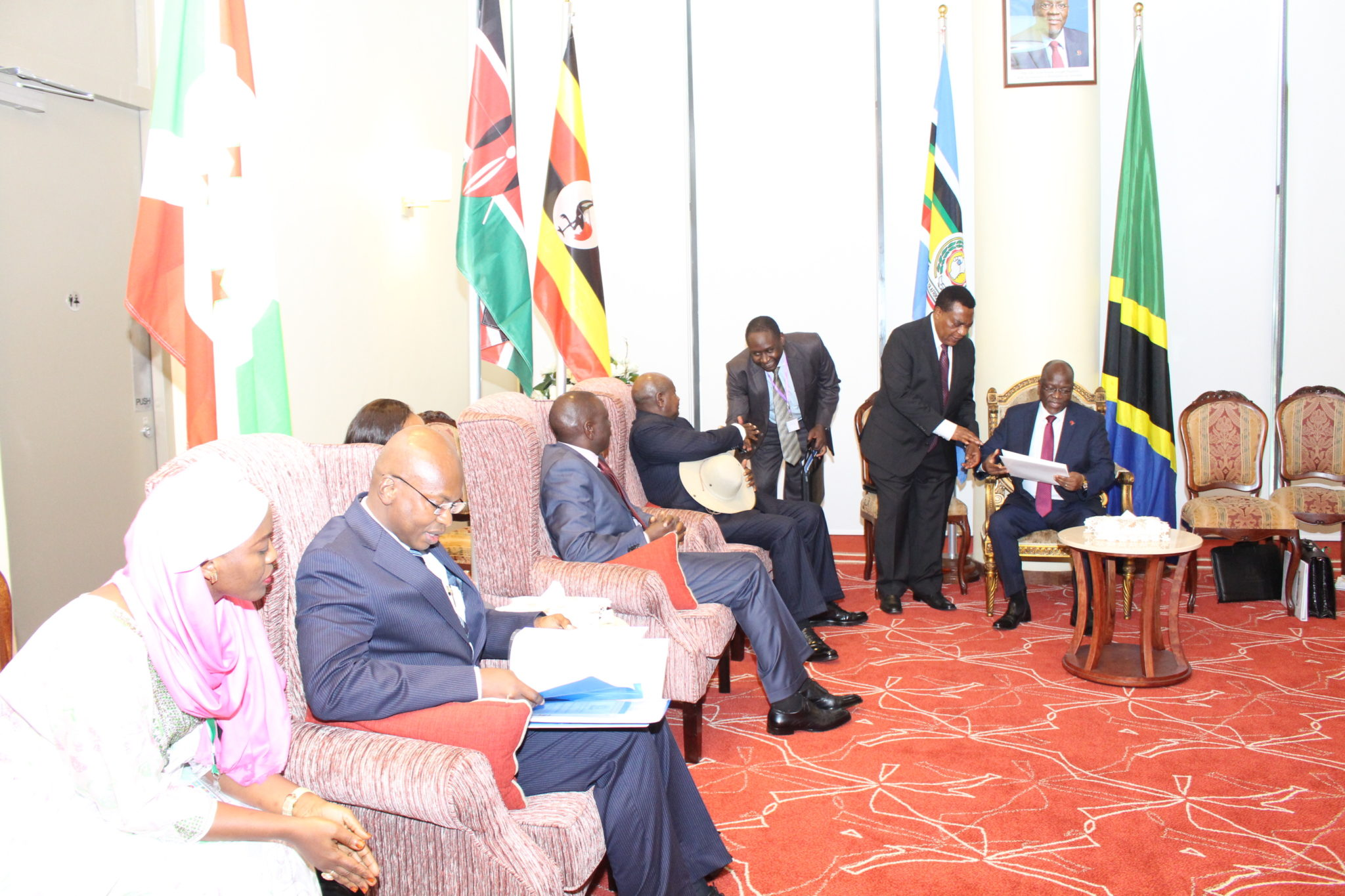 EAC Heads of State and Ministers in charge of Foreign Affairs and EAC matters during the closed session. All photos courtesy of EAC.