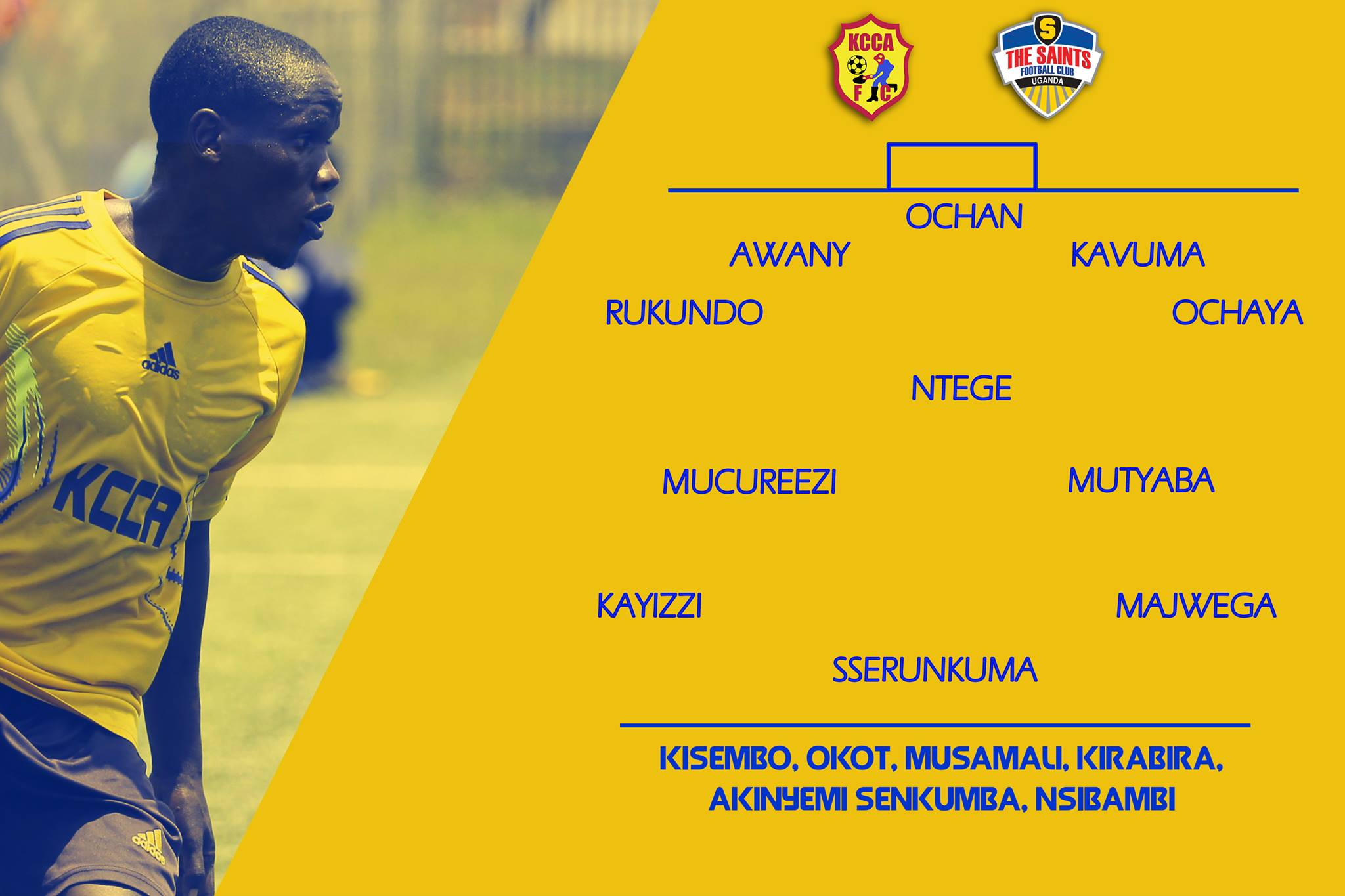 The line-up of KCCA today