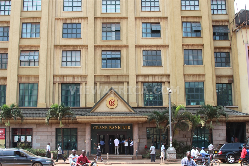 BAILED OUT: The Crane Bank headquarters on Kampala Road.