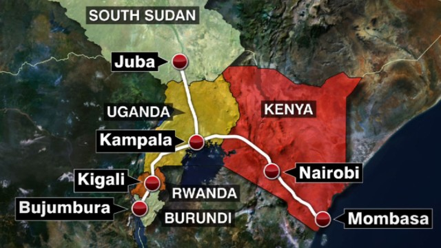 GRAPHIC DETAIL: The illustrated route of the Standard gauge Railway (SGR) route.