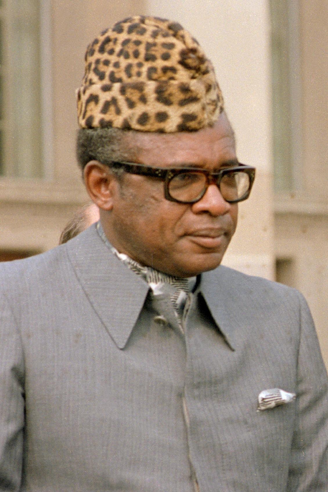 ACCUSED DICTATOR MOBUTU: Former DRC (Zaire) President Mobutu Sese Seko