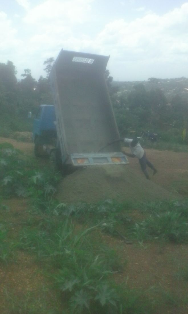 Delivering the building materials
