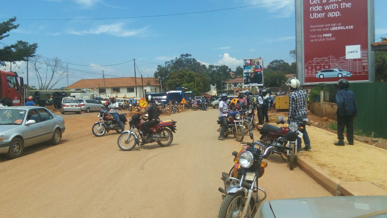 Boda Boda rides who had joined in Besigye's procession