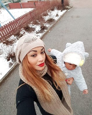 Zari with her first born