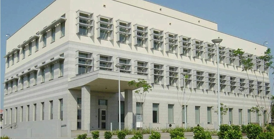 The exterior of the real US Embassy in Ghana.