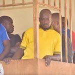 Abdallah Kitatta, the Boda Boda 2010 Association patron and his bodyguard Sowali Ngobi . Photo Credit: The Observer