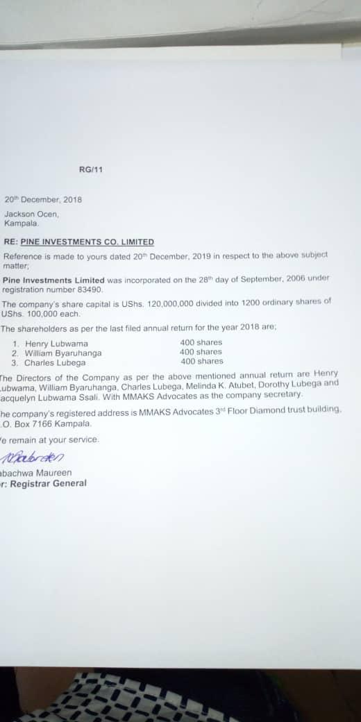 Probe investments limited